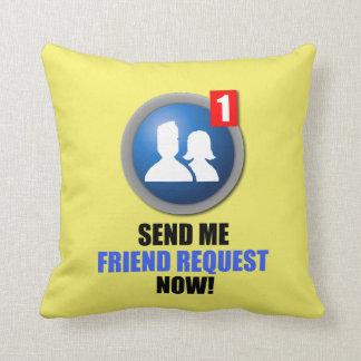 Almohada de la petición del amigo cojín decorativo