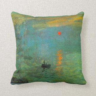 Almohada de la pintura de la salida del sol de