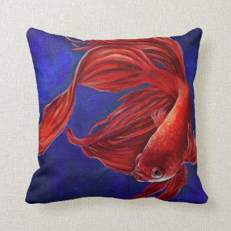Almohada de la pintura de los pescados de Betta