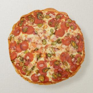 Almohada de la pizza - tiro redondo de la pizza cojín redondo