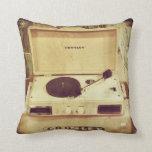 Almohada de la placa giratoria del vintage