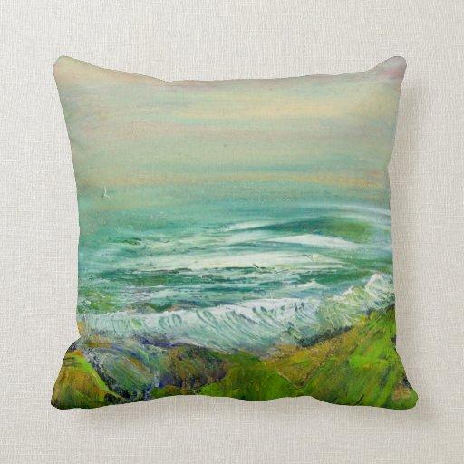 Almohada de la playa de la orilla del océano - mañ