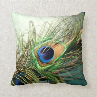 Almohada de la pluma del pavo real del trullo cojín decorativo