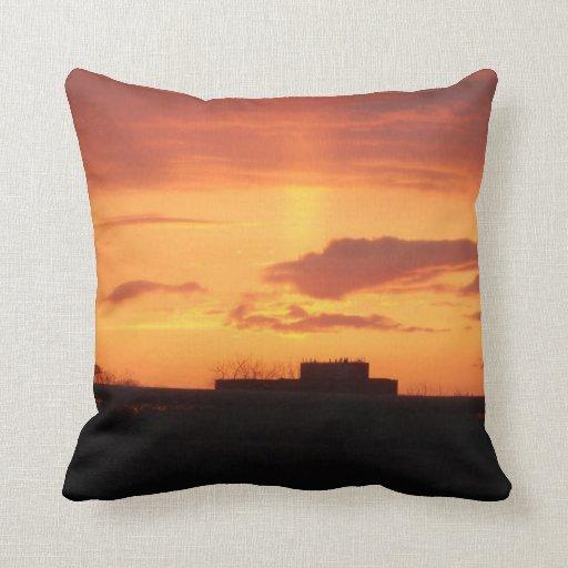 Almohada de la puesta del sol