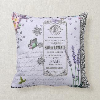Almohada de la púrpura del collage de la lavanda