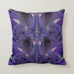Almohada de la púrpura real del fractal