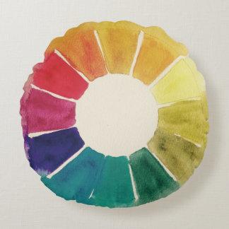 Almohada de la rueda de color #1 cojín redondo