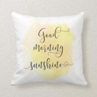 Almohada de la sol de la buena mañana