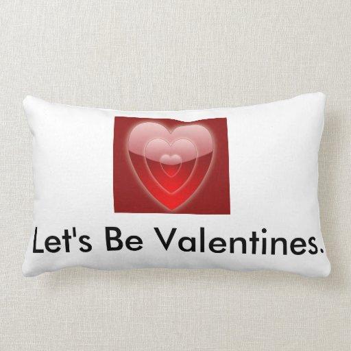 Almohada de la tarjeta del día de San Valentín