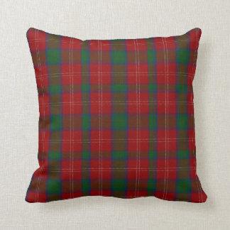 Almohada de la tela escocesa de tartán de Chisholm