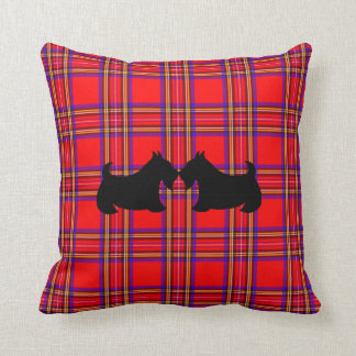 Almohada de la tela escocesa del perro de Terrier Cojín Decorativo