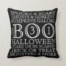 Almohada de la tipografía de Halloween del estilo