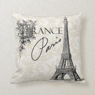 Almohada de la torre Eiffel de París Francia del v