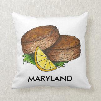 Almohada de la torta de cangrejo de Maryland
