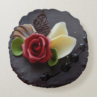 almohada de la torta de chocolate cojín redondo