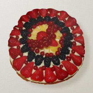 Almohada de la torta de la fruta cojín redondo