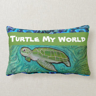 Almohada de la tortuga de mar verde