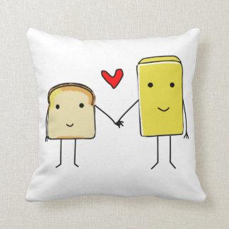 Almohada de la tostada y de la mantequilla