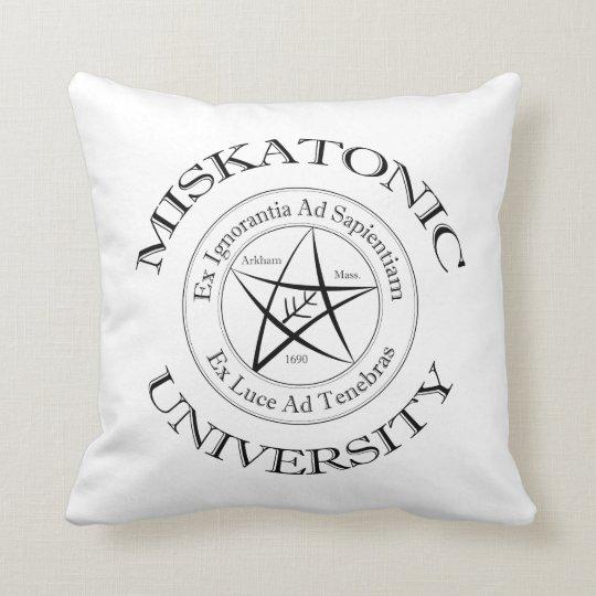 Almohada de la universidad de Miskatonic Cojín Decorativo