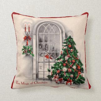 Almohada de la ventana del navidad del vintage