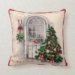 Almohada de la ventana del navidad del vintage cojín decorativo