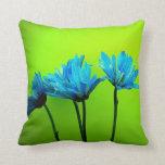Almohada de la verde lima de las flores de las mar