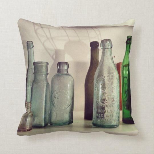 Almohada de las botellas de cristal cojín decorativo