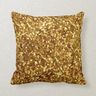 Almohada de las lentejuelas del oro