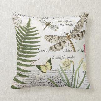 Almohada de las libélulas del vintage