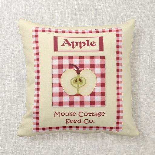 Almohada de las semillas de Apple del vintage
