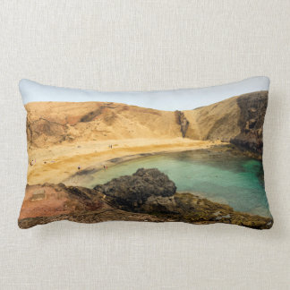 Almohada de lomo con playa móvil de foto