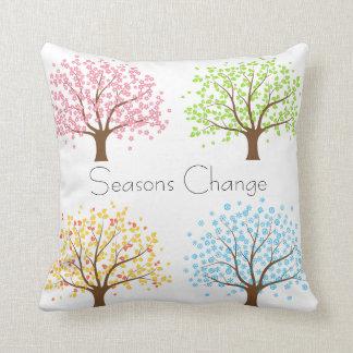 Almohada de los árboles del invierno del otoño del