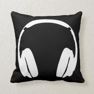 Almohada de los auriculares (negro y blanco)