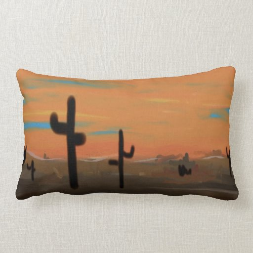 Almohada de los cactus cojín lumbar