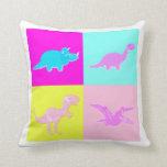Almohada de los dinosaurios de PopArt 4