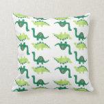 Almohada de los dinosaurios verdes