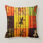 Almohada de los Geckos del arte