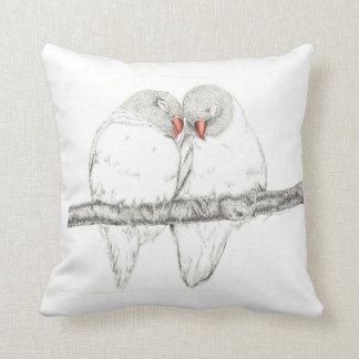 Almohada de los pájaros del amor