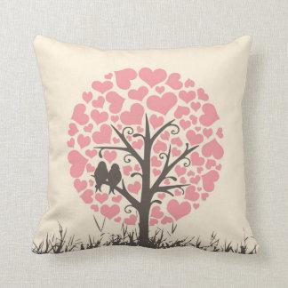 Almohada de los pájaros del amor del día y de la n