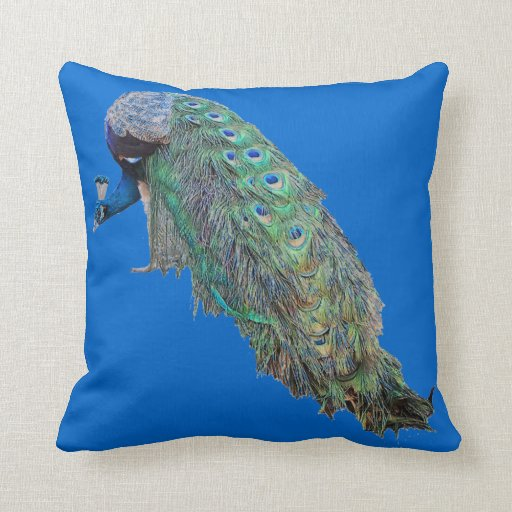 Almohada de los pájaros del pavo real
