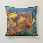 almohada de los pescados del colorfull