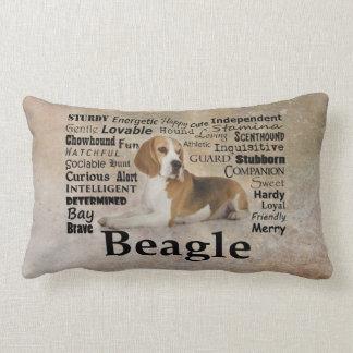 Almohada de los rasgos del beagle cojín lumbar