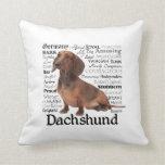 Almohada de los rasgos del Dachshund