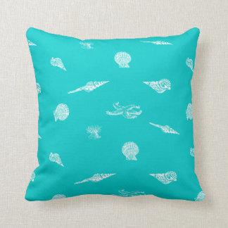 Almohada de los Seashells y de las estrellas de ma