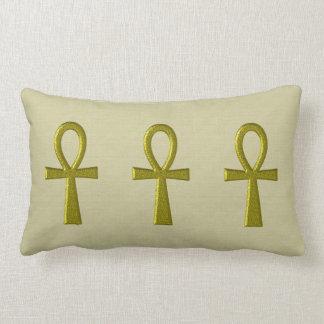 Almohada de lujo del Lumbar de Ankh del oro