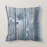 Almohada de madera del modelo del tinte azul