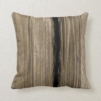 Almohada de madera rústica del tablón