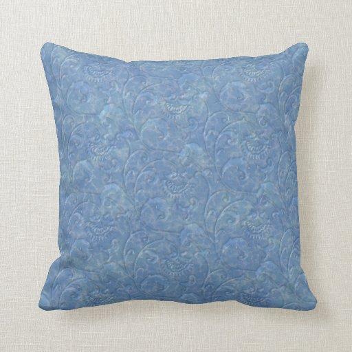 """Almohada """"de mármol"""" líquida azul de la impresión"""