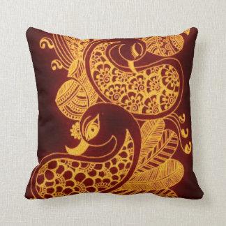 Almohada de Mehndi del oro