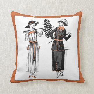 Almohada de moda de las señoras del vintage